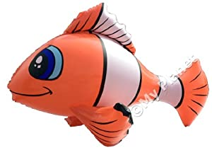 INFLATABLE CLOWN FISH LIKE NEMO LARGE 54cm COOL SEA TROPICAL MARINE FISH ANIMAL MY PLANET EXCLUSIVE TOY