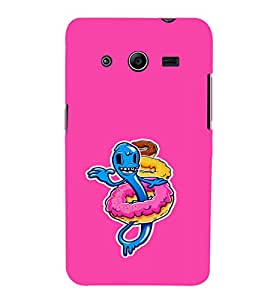 EPICCASE Pink Worm Mobile Back Case Cover For Samsung Galaxy Core 2 (Designer Case)