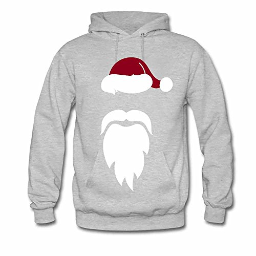 Santa Red Hat White Mustache Beard Men's Hoodies XXXL