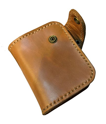 D'SHARK Men's Biker Genuine Leather Luxury Bi-fold Wallet with Chain (Brown) 2