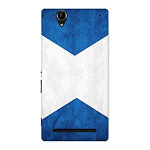Special X Fin Blue Back Case Cover for Sony Xperia T2