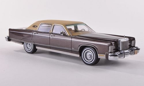 lincoln-continental-town-car-met-brown-matt-beige-1977-model-car-ready-made-neo-143