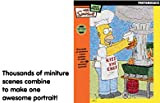 BV Leisure - Photomosaics The Simpsons Kiss The Chef 1000 Piece Jigsaw Puzzle