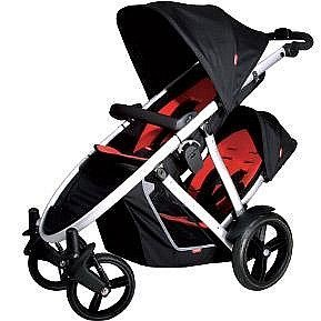 Phil And Teds Verve With Second Seat-Red/Black front-235278