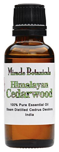 Miracle Botanicals Wildcrafted Himalayan Cedarwood Essential Oil - 100% Pure Cedrus Deodora - Therapeutic Grade - 30ml