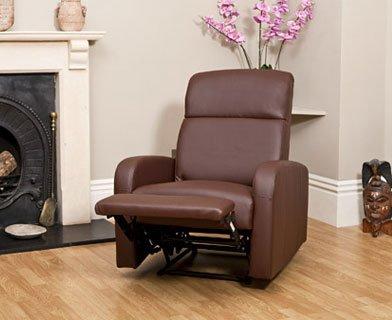 Faux Leather Recliner / Nursing Armchair - BROWN