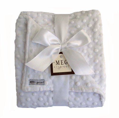 MEG Original Snow White Minky Dot Baby Blanket 342