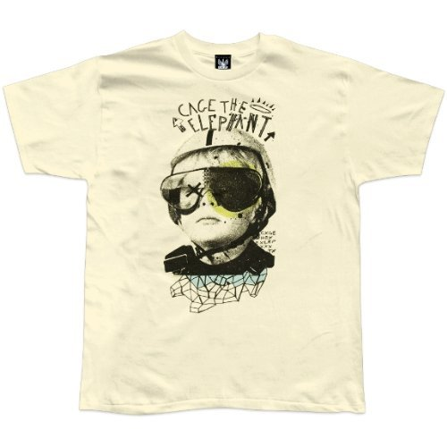 Old Glory Mens Cage The Elephant - Tiny Little Robots Soft T-Shirt - Small Off-White