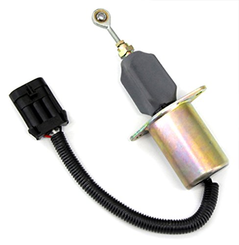 """Holdwell Solenoid 3935649-Fp For 94-98 Dodge Ram Diesel Engine 5.9L Fuel Shutoff Solenoid With 3"""" Mounting Flange"""