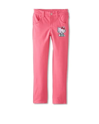 Hello Kitty Girl's Knit Jeans  [Carmine Rose]