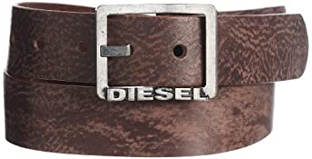 (促销)Diesel 意大利产迪赛100%牛皮复古腰带Men's Biflav BeltDark Grey折后$43.87