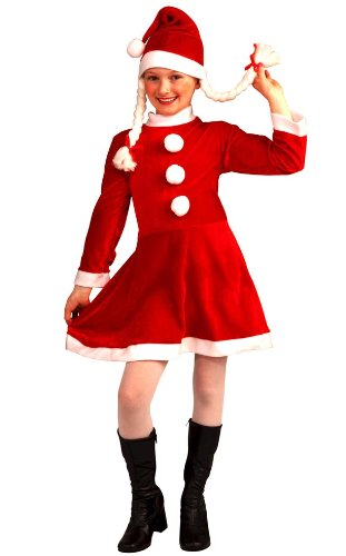 Lil Ms Santa'S Helper Deluxe Costume Child 4-6 Small