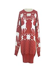 Christmas Reindeer Snowflake Knitted Sweater