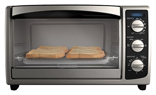 BLACK+DECKER TO1675B 6-Slice Toaster Oven, Convection Oven, Bake, Broil, Toast, and Keep Warm Functions, Stainless Steel/Black (Toast Ovens compare prices)