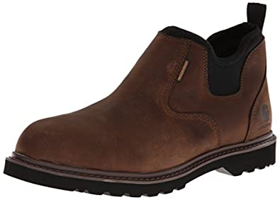 Carhartt Men's CMS4190 Romeo Soft Four Inch Waterproof Work Boot,Dark Bison Oil Tanned,8 M US