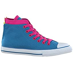Converse CT Zip Back Hi Teal Youths Trainers 6 US