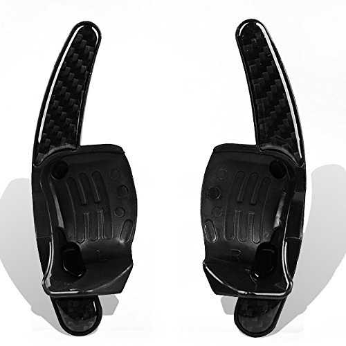 2 Carbon Fiber Steering Wheel Dsg Paddle Extension Shifters For Vw Golf Polo Gti