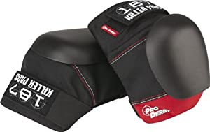 Click here to buy 187 Pro Derby Knee Pads M-Black Red Skateboard Pads by 187.