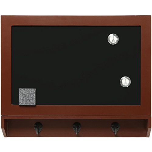 Wall Mounted 3 Key Hook Wooden Chalkboard / Magnetic Blackboard Safe / Panel Cover - Home Office Decor