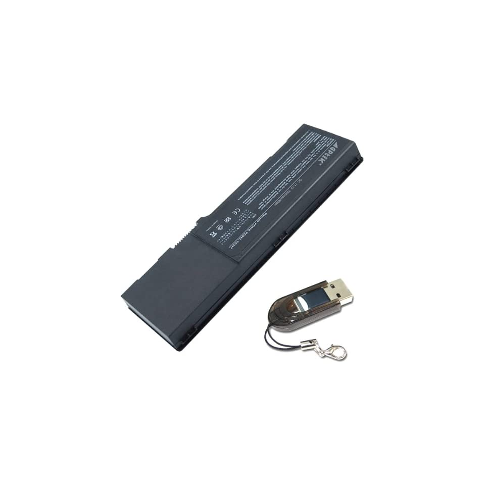 7200mAh 9 CELL Replacement DELL Inspiron 6400 1501 E1505 Latitude 131L Laptop Battery 312 0428 0UD260 KD476 GD761 GD761 KD476 series Laptop w/ USB 2.0 TF Card   80Whr Replacement Battery