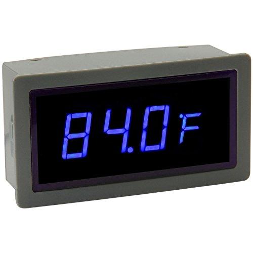 Blue Led Temperature Display External Sensor