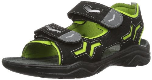 Ricosta Boys Alsaco M Fashion Sandals 59-6027200-560 Schwarz/Acido Black 9 UK Child, 27 EU
