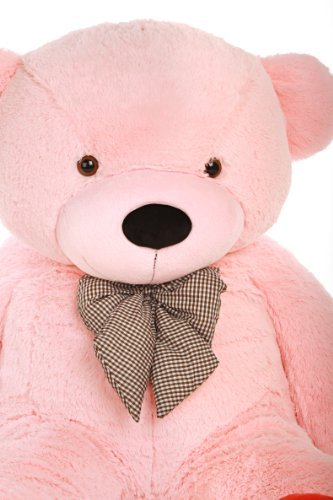 buy 6 foot life size teddy bear soft pink color sweet cuddly