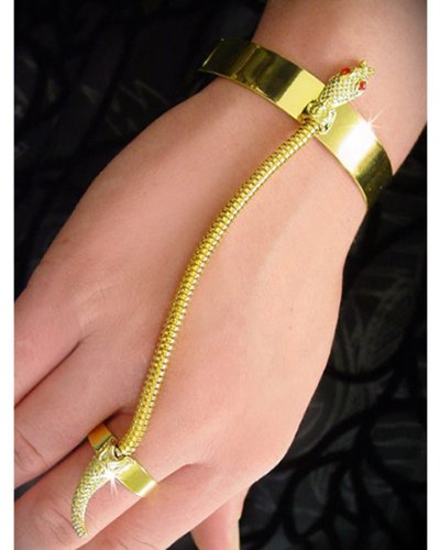 Gold Snake Bracelet and Ring