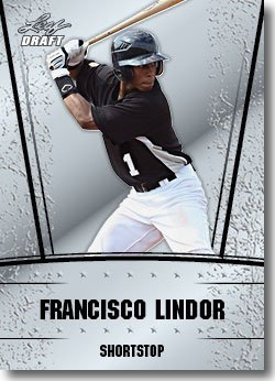 2011 Leaf Draft Silver Prospects Baseball Card #17 Francisco Lindor - Cleveland Indians (Prismatic Design)(Rookie / Prospect)(Baseball Trading Cards)