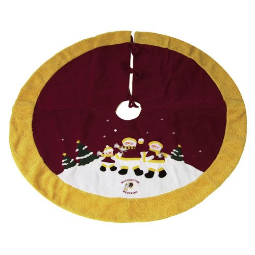Washington Redskins Nfl Snowman Holiday Tree Skirt (48