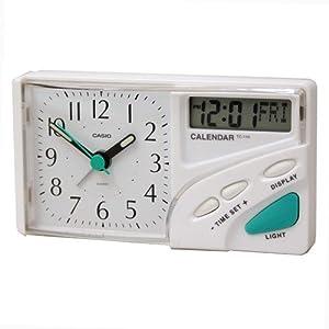 CASIO 10716 TC-110-7E - Reloj Despertador analógico digital blanco marca CASIO