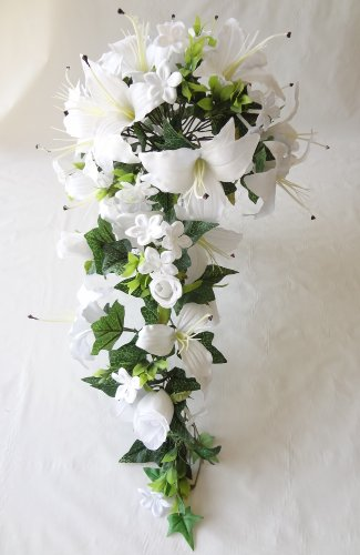 Rose and Lily Wedding Bouquets