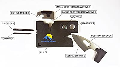 Credit Card Multitool Survival Knife Multi Purpose Tool 10 in 1 Utility Outdoor Camping Tactical Pocket Wallet Card from On the Go Wallets