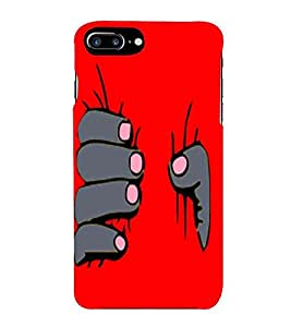 HiFi Designer Phone Back Case Cover Apple iPhone 7 Plus :: Apple iPhone 7+ ( Red Hand Be Strong )