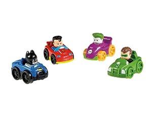 Fisher-Price Little People DC Super Friends Wheelies 4-Pack