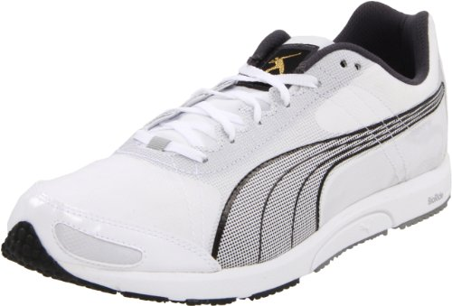 PUMA Bolt Faas 200 Running Shoe,White/Black,7.5 B(M) US Women's/6 D(M) US Men's