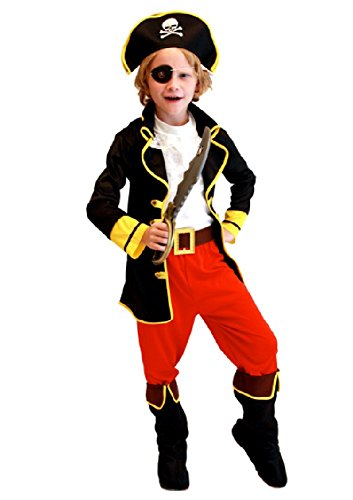 SPJ: Pirates Costume for Children 6 Points Halloween Cosplay Party
