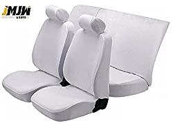 JMJW & SONS - Fixed Front Headrest Denim Car Seat Covers for Hyundai Santro Xing