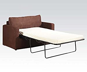 Amazon Modern Sofa W Twin Sleeper Sleeper Chocolate Microfiber