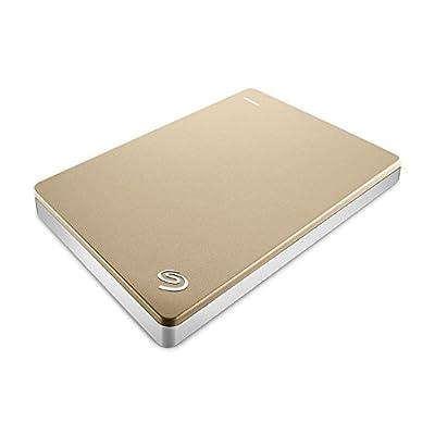 Seagate Backup Plus Slim STDR2000307 2TB Portable Hard Drive (Gold)