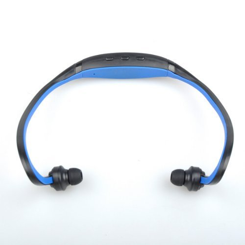 Portable Blue Digital Mini Music MP3 Player USB 2.0 Sport Headphones (8GB TF Card Memory is NOT Included)