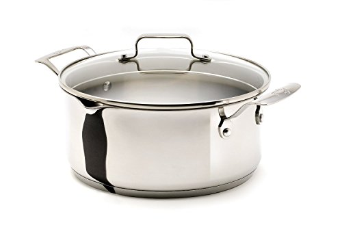 Emerilware Stainless Steel 5-Quart Soup Pot with Pour Spouts with Glass Lid, Silver (Emerils Cookware compare prices)