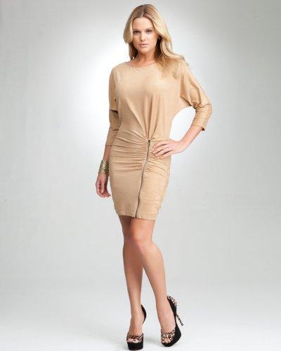 bebe Microsuede Side Zipper Dress