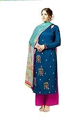 Kashmira Women's Cotton Silk Salwar Suit Dress Material (kas-heer09-5801_blue)