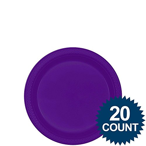 "new purple 7"" pl plate 20 ct"