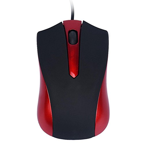 Mini Perman 1600DPI USB Optical Wired Gaming Mouse Mice for Computer PC Laptop Gamer Red (Micro Wired Mouse compare prices)