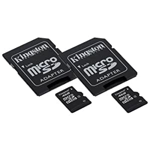 Contour ContourROAM2 Camcorder Memory Card 2 x 4GB microSDHC Memory Card with SD Adapter (2 Pack)