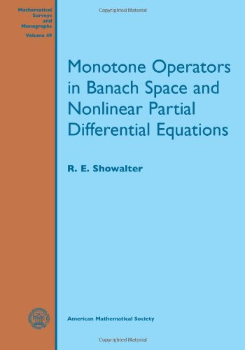 Monotone Operators In Banach Space And Nonlinear Partial Differential Equations (Mathematical Surveys And Monographs)