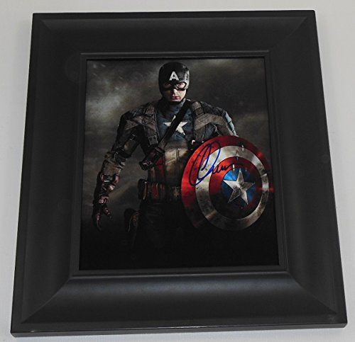 Captain America Cival War Chris Evans Signed Autographed 8x10 Glossy Photo Gallery Framed Loa