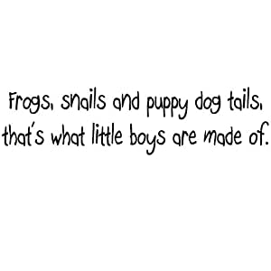 Frogs Snails and Puppy Dog Tails, That's What Little Boys Are Made Of Large Nursery Wall Decals Vinyl Wall Quote Nursery Wall Decor Boys Room